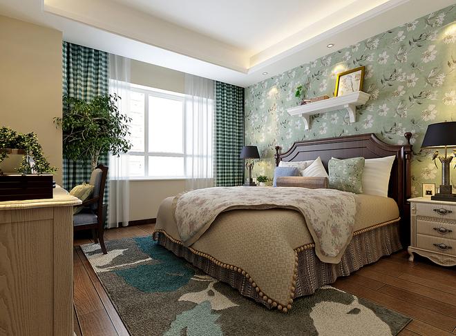 140平美式精品公寓设计 精致典雅的住宅