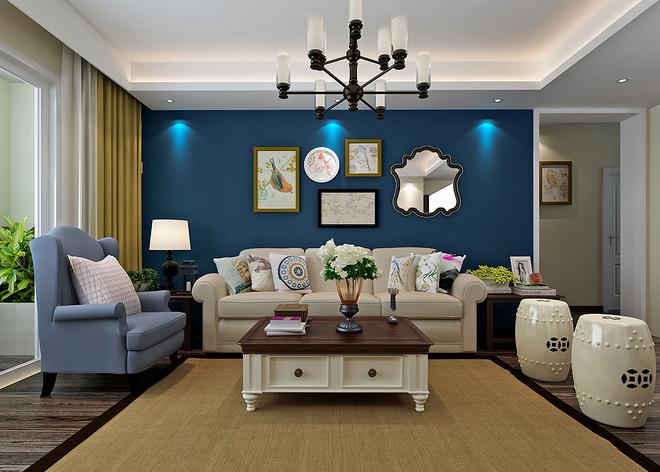 140平美式精品公寓设计_精致典雅的住宅